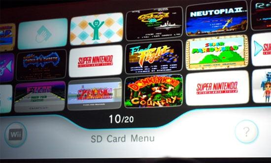 The new SD Card Menu