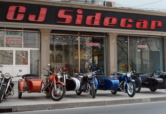 CJ Sidecar showroom in Shanghi