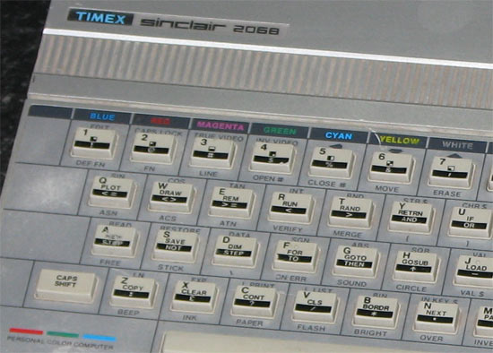 A typically confusing Sinclair chicklet keyboard.