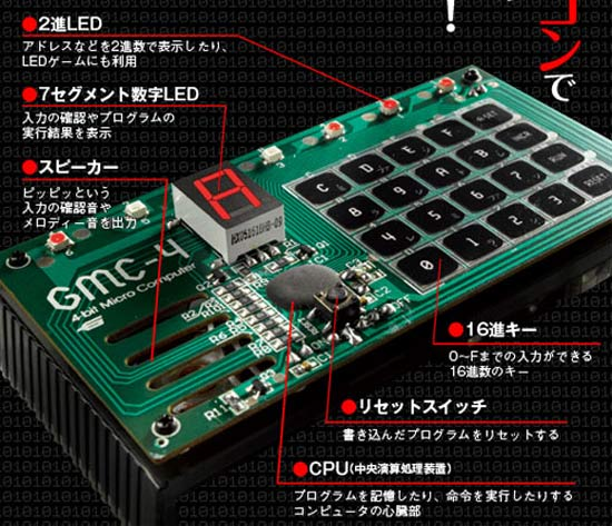 Retro Thing New Gakken 4 Bit Micro Computer Kit