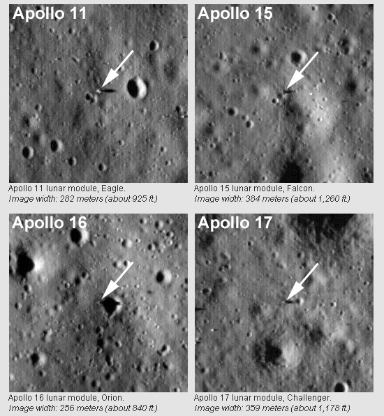 Apollo landing sites