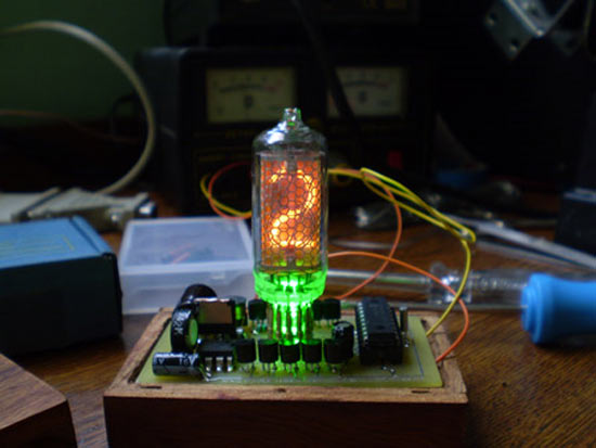 Compact Nixie clock