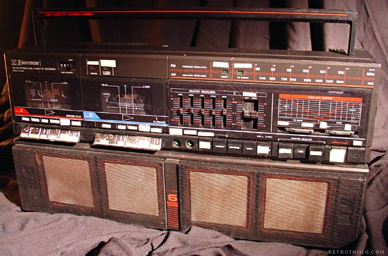 Did they used to sell boom boxes by the pound?