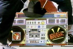 The boom box even brought its hat.