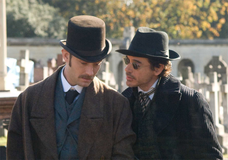 Watson and Holmes take a conspiratorial stroll through a cemetery...