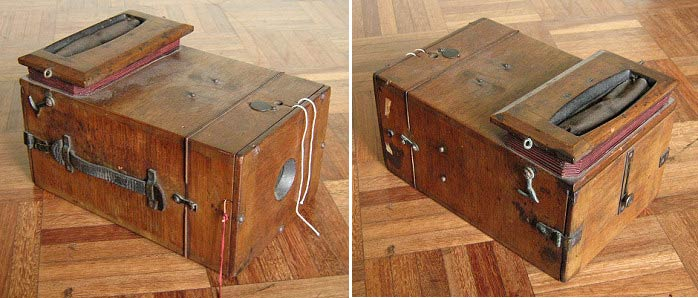 A mysterious wooden box.