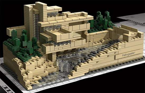 retro thing a lego tribute to frank lloyd wright s fallingwater