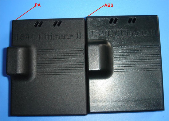 Several versions of the case in different plastics