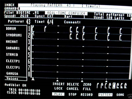 Fairlight Page R graphic sequencer