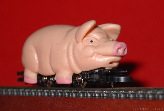 Better catch the 4:15 piggy into town.