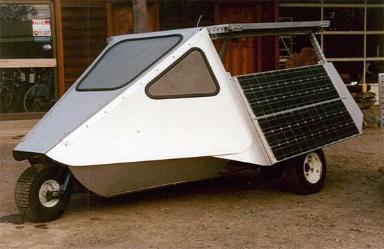 Grid solar car