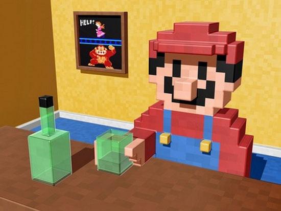 Mario falls off the wagon