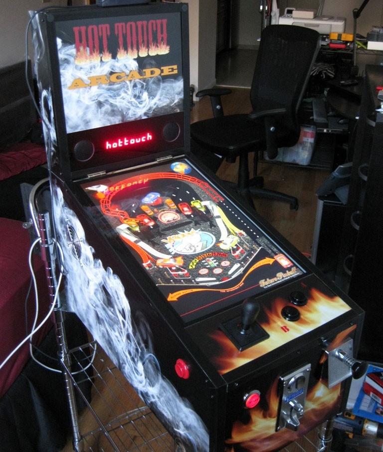 Hot Touch Arcade digital pinball machine