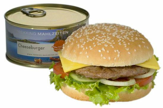 Want to bet the burger is not nearly this pretty once you pry it out of the can?