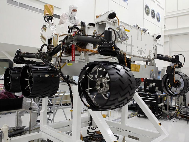 The Curiosity rover departs for Mars next summer.