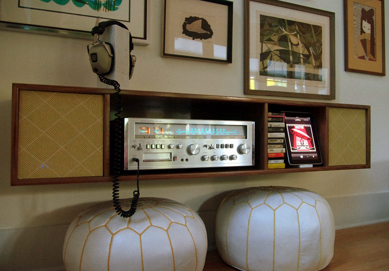 Adam Beasonu0027s Stereo System Is A Perfect Example. His Custom Built Wall  Cabinet Features A Lloydu0027s Receiver With Built In 8 Track That He Found ...
