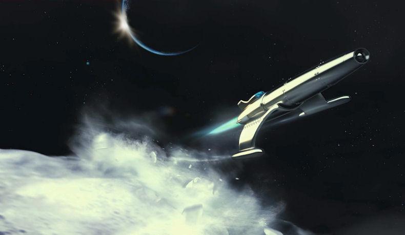 Moonfighter in flight