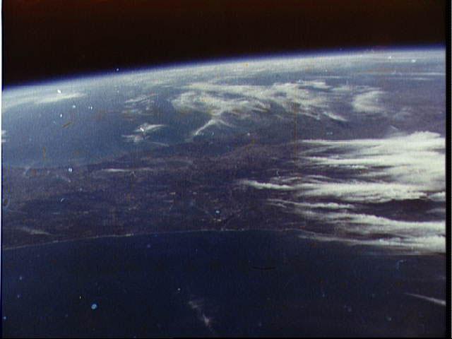 A shot from Glenn's historic flight