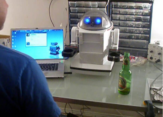 Omnibot tastes beer for the first time...