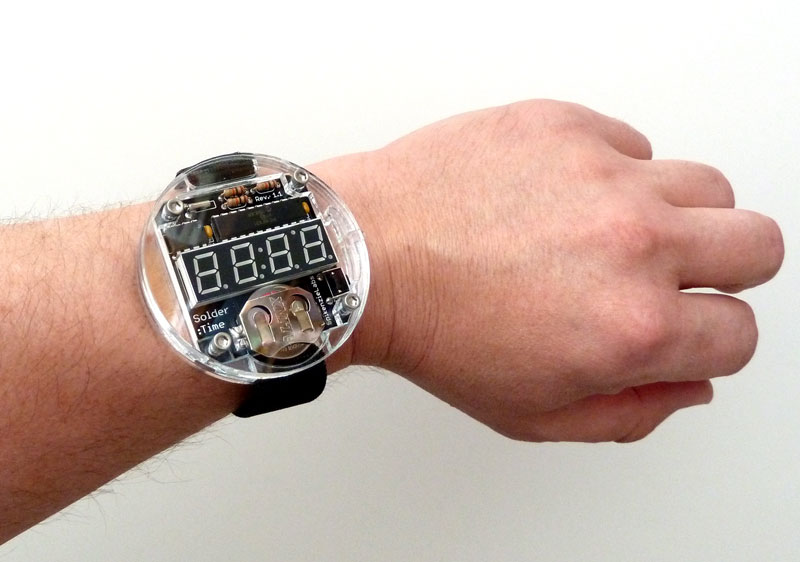 Build Your Own Led Watch By James Grahame Not Exactly Dainty Is It
