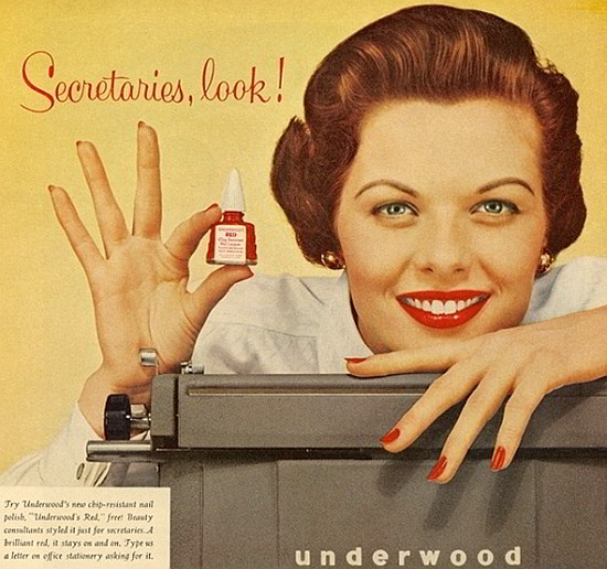 retro thing 1950s typewriter for the ladies amp special