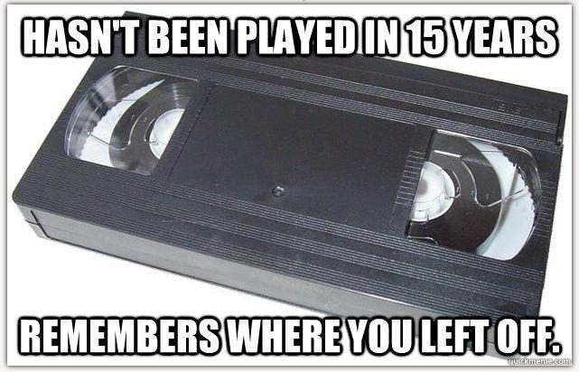 VHS meme