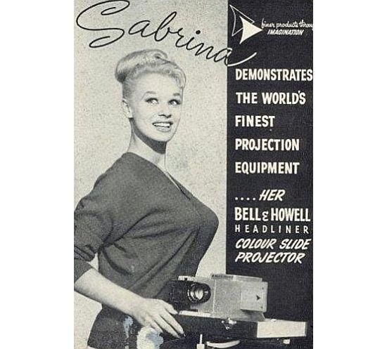 Sabrina slide projector_banner