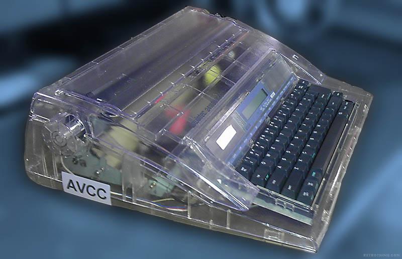 Clear typewriter HLIN