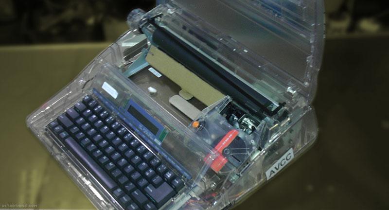 Clear typewriter butm