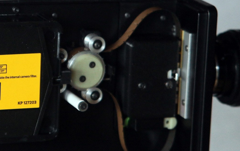 The film pressure plate is outside the cartridge.