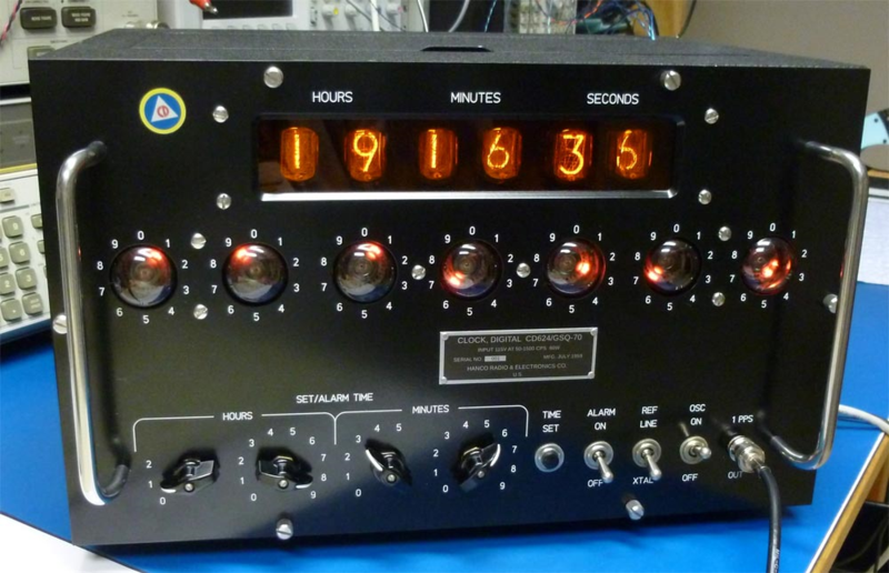 Cold War Nixie Clock