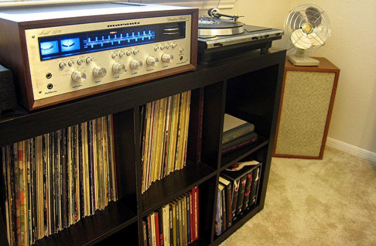 Marantz amp + shelf
