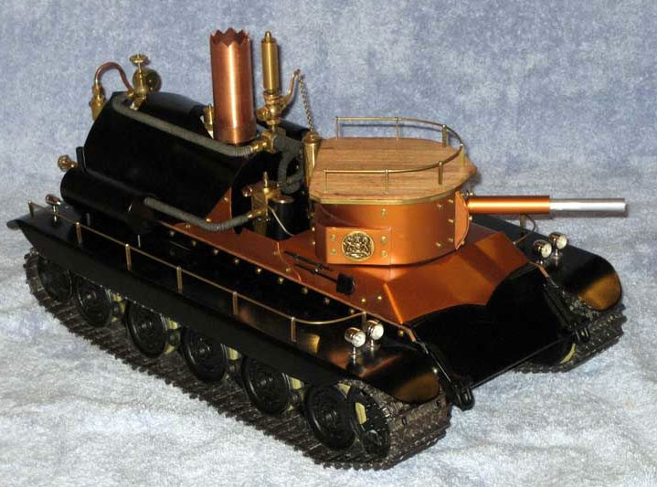 Radio controlled steam tank