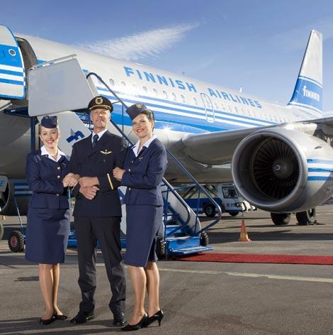 Finnair crew