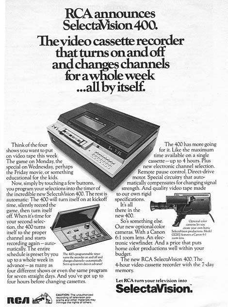 RCA Selectavision 400