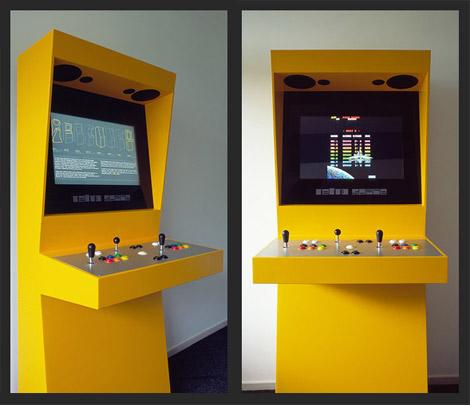 Retro space arcade cabinet