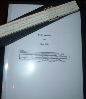 My 'new' slide rule and dad's instructions