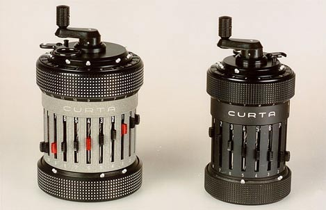 Curta mechanical calculators