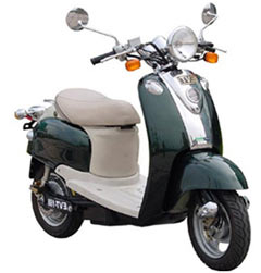 The  Electric Scooter Looks Like Something From A 1950s Fellini Film Its Chrome Trim Sparkles And It Putters Along Happily With A Funky
