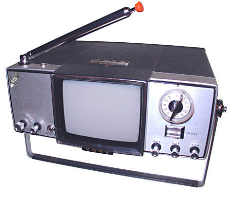 Now imagine the stir this little black and white transistorized television