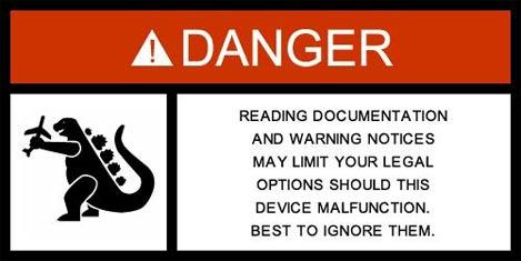 Retro Thing Warning Label Generator